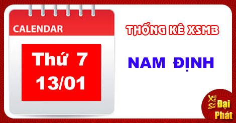 Thống Kê XSMB 13/01 - Thống Kê Xổ Số Miền Bắc Thứ 7 Ngày 13/01/2018