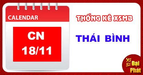 Thống Kê XSMB 18/11 - TK Xổ Số Miền Bắc Chủ Nhật 18/11/2018