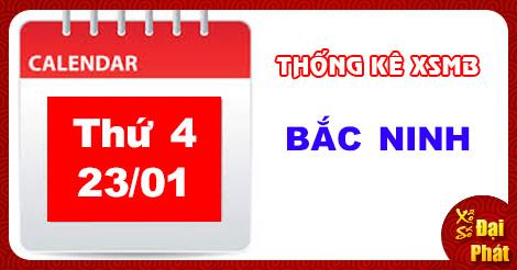 Thống Kê XSMB 23/01 - TK Xổ Số Miền Bắc Thứ 4 Ngày 23/01/2019