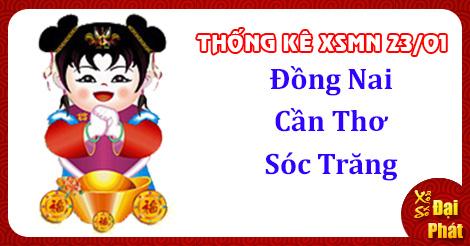 Thống Kê XSMN 23/01 - TK Xổ Số Miền Nam Thứ 4 Ngày 23/01/2019