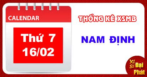 Thống Kê XSMB 16/02 - TK Xổ Số Miền Bắc Thứ 7 Ngày 16/02/2019
