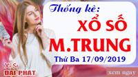 Thống Kê Xổ Số Miền Trung 17/09 - Thống Kê XSMT Thứ 3 Ngày 17/09/2019
