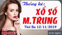 Thống Kê Xổ Số Miền Trung 12/11 - Thống Kê XSMT Thứ 3 Ngày 12/11/2019