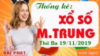 Thống Kê Xổ Số Miền Trung 19/11 - Thống Kê XSMT Thứ 3 Ngày 19/11/2019