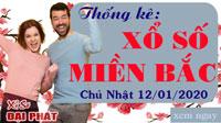 Thống Kê XSMB 12/01/2020 - Thống Kê Xổ Số Miền Bắc Chủ Nhật 12/01/2020