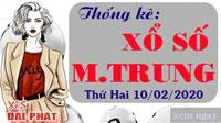 Thống Kê Xổ Số Miền Trung 10/02 - Thống Kê XSMT Thứ 2 Ngày 10/02/2020