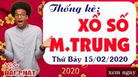 Thống Kê Xổ Số Miền Trung 15/02 - Thống Kê XSMT Thứ 7 Ngày 15/02/2020
