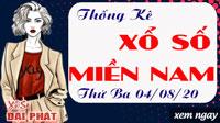 Thống Kê Xổ Số Miền Nam 04/08/2020 - Thống Kê XSMN Thứ 3 Ngày 04/08/2020